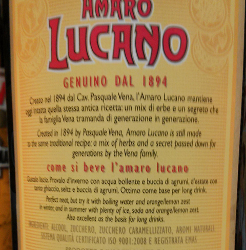 Amaro Lucano, aromi naturali.