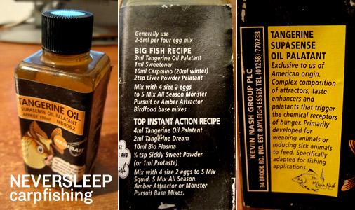 L'aroma oleoso Tangerine Oil per boilies da carpfishing di Kevin Nash.
