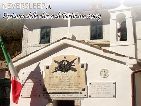 Chiesetta di perticano all'inaugurazione del suo restauro del 2009.