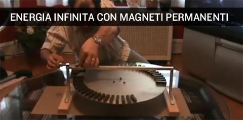Energia infinita gratis con i magneti permanenti.