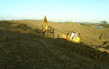 Teletubbyland durante la costruzione